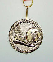 Медаль MD 61 silver с лентой