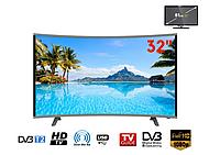 """Телевизор COMER 32"""" Smart HD (E32DU3100) Изогнутый, Жидкокристаллический (LCD) телевизор с Wi-Fi"""