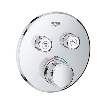 Смеситель термостатический для скрытого монтажа Grohe SmartControl 29119000 на 2 выхода