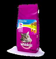 Whiskas (Вискас) Sterile 1+  для кошек стерилизованных с курицей 14 кг