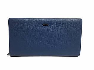 Женский клатч-кошелек из мягкой, натуральной кожи, синего цвета от CARDINAL / S612-7 / 12*21.5*3.5