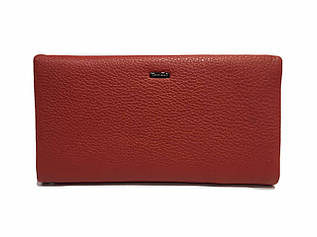 Женский клатч-кошелек из мягкой, натуральной кожи, красного цвета от CARDINAL / S612-2 / 12*21.5*3.5