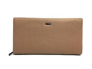 Женский клатч-кошелек из мягкой, натуральной кожи, пудрового цвета от CARDINAL / S612-2 / 12*21.5*3.5