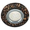 Светильник 8585-2 MR16 черный золото серебро  led  подсветкой  SMD2835 15leds  (4000K)