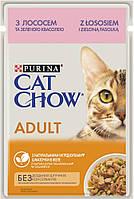 Cat Chow Adult лосось і зелений горошок в желе, 24 шт