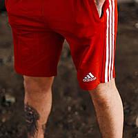 Мужские шорты Адидас выполнены из качественного материала Лакост Мужские шорты Adidas красные