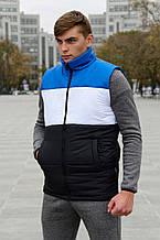 Жилет чоловічий Intruder Brand Koloritna весняний, осінній синьо-біло-чорній S (001SAG 1528)