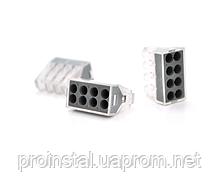 Клемма с зажимом 8-проводная PROinstal K773-108 для распределительных коробок, 8-pin, прозрачно-черная