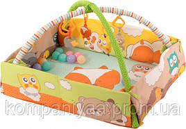 Дитячий ігровий килимок для немовляти з дугами і бортиками BABY TEAM 8566