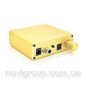 Активний конвертер VEGGIEG F102 з цифрового (SPDIF) в аналоговий (RCA) аудіо сигнал, регулювання звуку, Gold