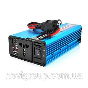 Инвертор напряжения Voltronic, 1200W, 60/220V, approximated, 1 универсальная розетка, клемы + USB