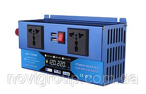 Инвертор напряжения универсальный  Voltronic, AER-1200W, 48-60/220V, approximated, 2 универсальные  розетки