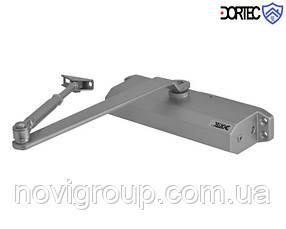 Доводчик DT-514H з фіксацією у відкритому положенні, 45-85 кг, 248x45x72, срібло
