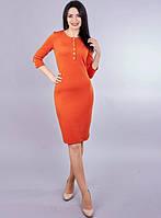 Приталенное женское платье по колено