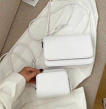 Женская сумка 2в1, экокожа PU (белый)