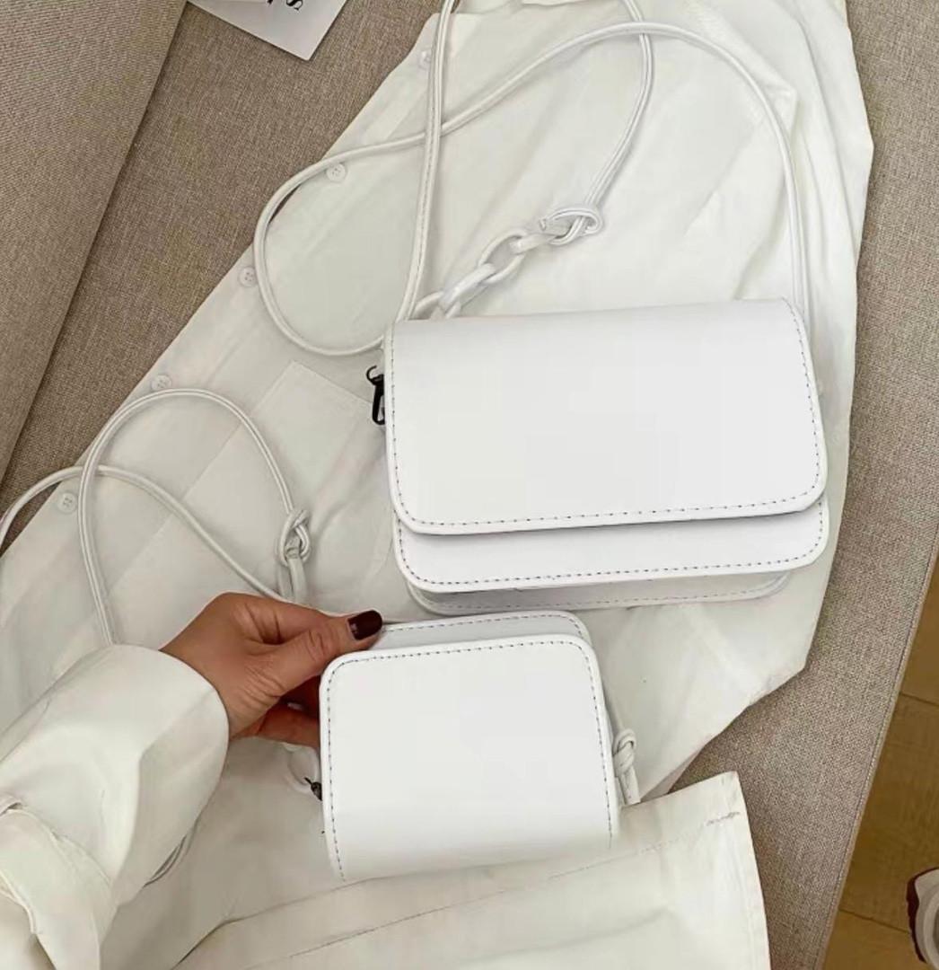 Жіноча сумка 2в1, екошкіра PU (білий)