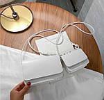 Жіноча сумка 2в1, екошкіра PU (білий), фото 2