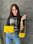 Женская сумка 2в1, экокожа PU (жёлтый), фото 3