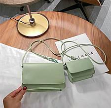 Женская сумка 2в1, экокожа PU (зелёный)