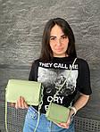 Женская сумка 2в1, экокожа PU (зелёный), фото 2