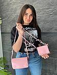 Женская сумка 2в1, экокожа PU (розовый), фото 5