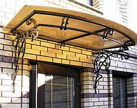 Металлические навесы для дачи с поликарбонатом