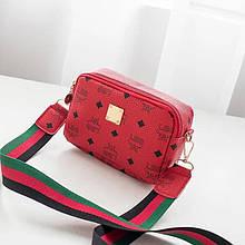 Женская сумка, экокожа PU (красный)