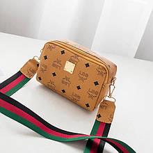 Женская сумка, экокожа PU (рыжий)