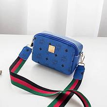 Женская сумка, экокожа PU (синий)
