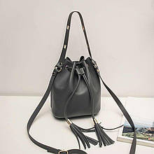 Женская сумка, экокожа PU (серый)
