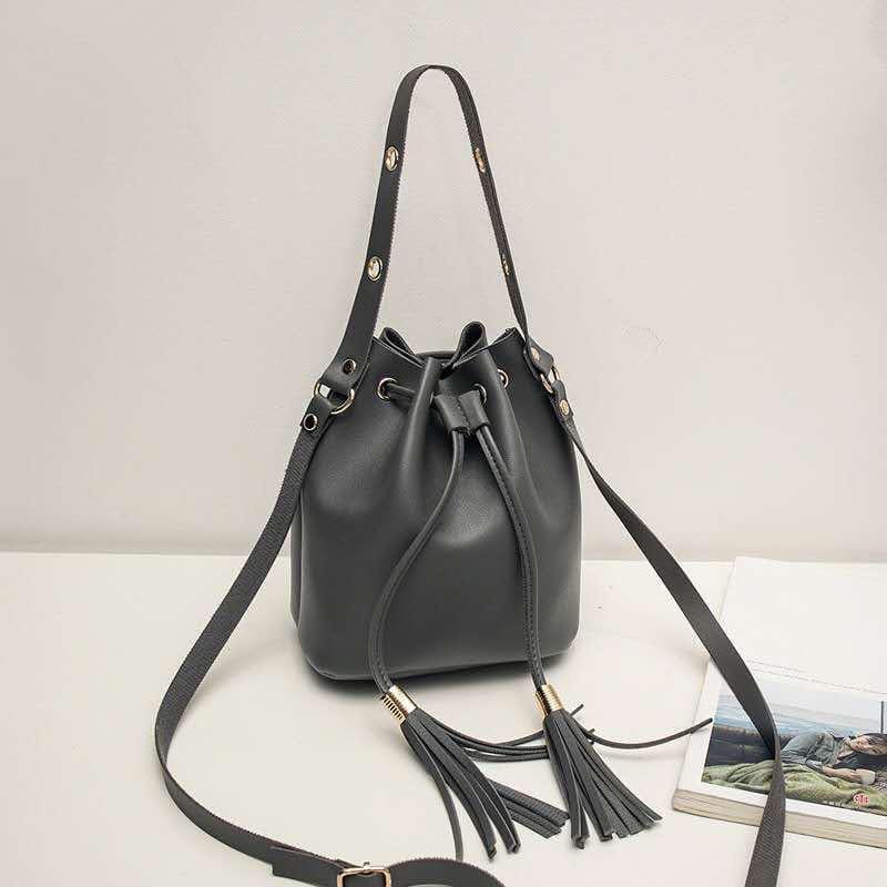 Жіноча сумка, екошкіра PU (сірий)
