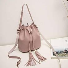 Женская сумка, экокожа PU (розовый)