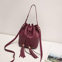 Женская сумка, экокожа PU (бордовый)