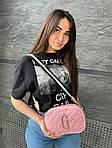 Женская сумка, экокожа PU (розовый), фото 2