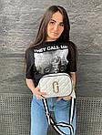 Жіноча сумка, екошкіра PU (білий), фото 4