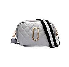 Женская сумка, экокожа PU (серебряный)