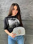 Женская сумка, экокожа PU (серебряный), фото 4