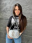 Женская сумка, экокожа PU (серебряный), фото 3
