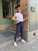 Женские стрейчевые джинсы синий