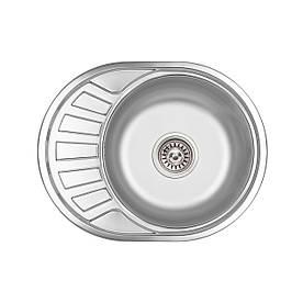Кухонна мийка Lidz 5745 Satin 0,6 мм (LIDZ574506SAT)