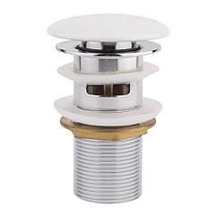 Донный клапан для раковины Qtap F0081 70х70х220 White с переливом