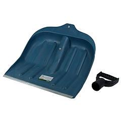 Лопата для прибирання снігу пластикова з алюмінієвої планкою 435×470×10мм (синя) GRAD (5049415)