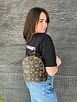 Женский рюкзак, экокожа PU (коричневый), фото 2