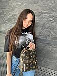 Женский рюкзак, экокожа PU (коричневый), фото 3
