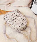 Женский рюкзак, экокожа PU (молочный), фото 2
