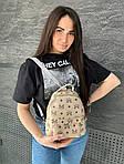 Женский рюкзак, экокожа PU (молочный), фото 6