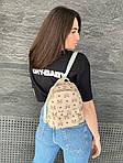 Женский рюкзак, экокожа PU (молочный), фото 3