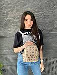 Женский рюкзак, экокожа PU (молочный), фото 4