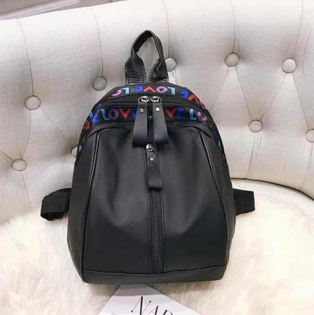 Женский рюкзак, плащёвка (чёрный)