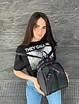 Женский рюкзак, плащёвка (чёрный), фото 4